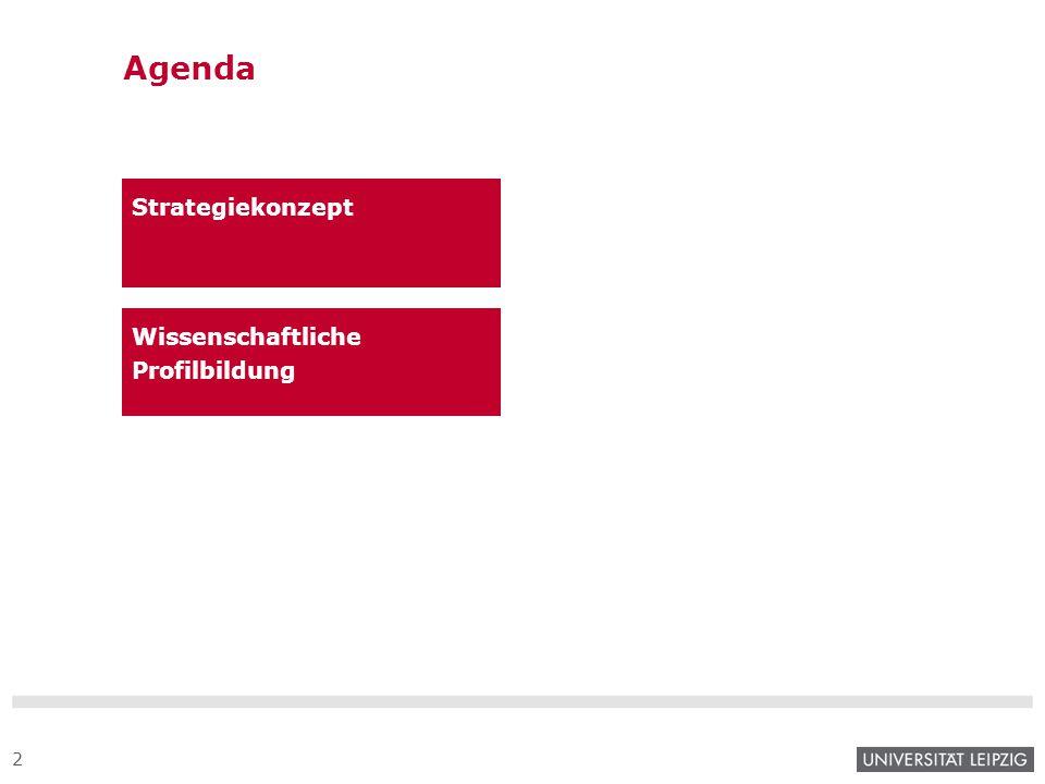 Agenda Strategiekonzept Wissenschaftliche Profilbildung