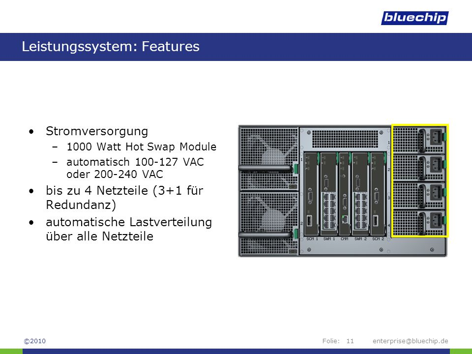 Leistungssystem: Features