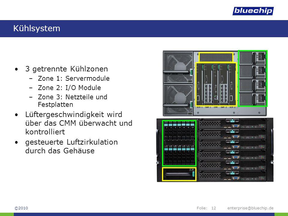 Kühlsystem 3 getrennte Kühlzonen