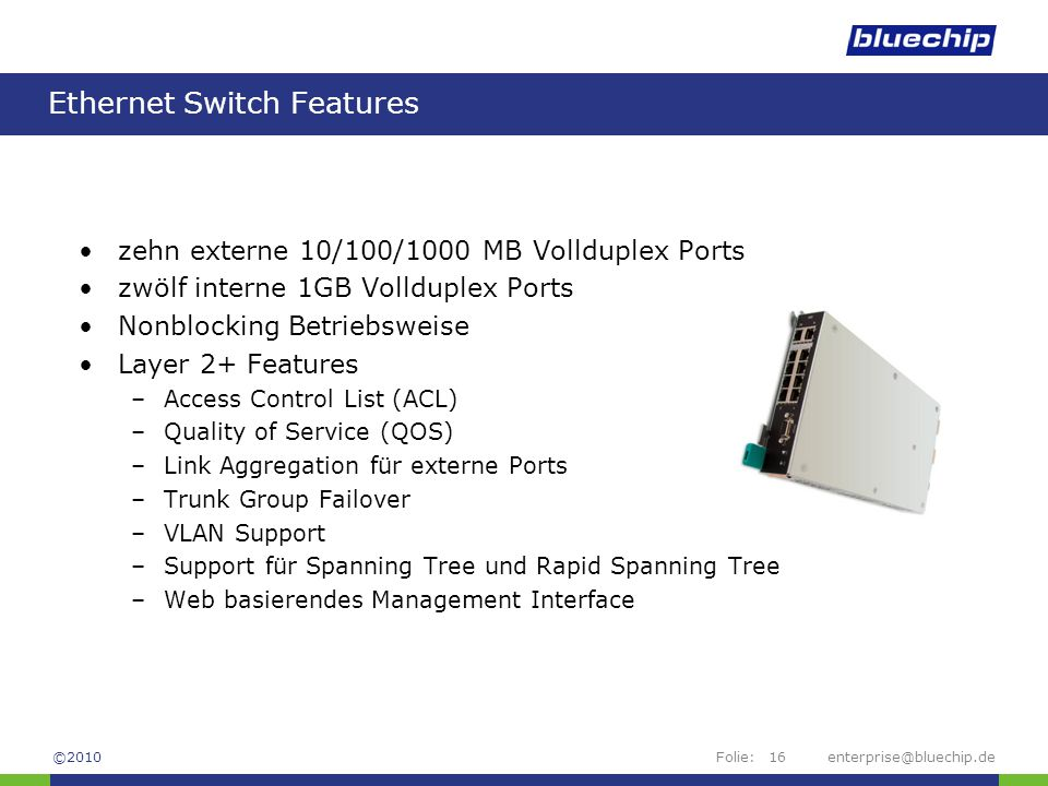 Ethernet Switch Features