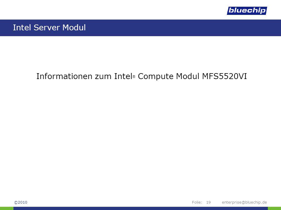 Informationen zum Intel® Compute Modul MFS5520VI