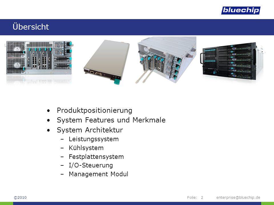 Übersicht Produktpositionierung System Features und Merkmale