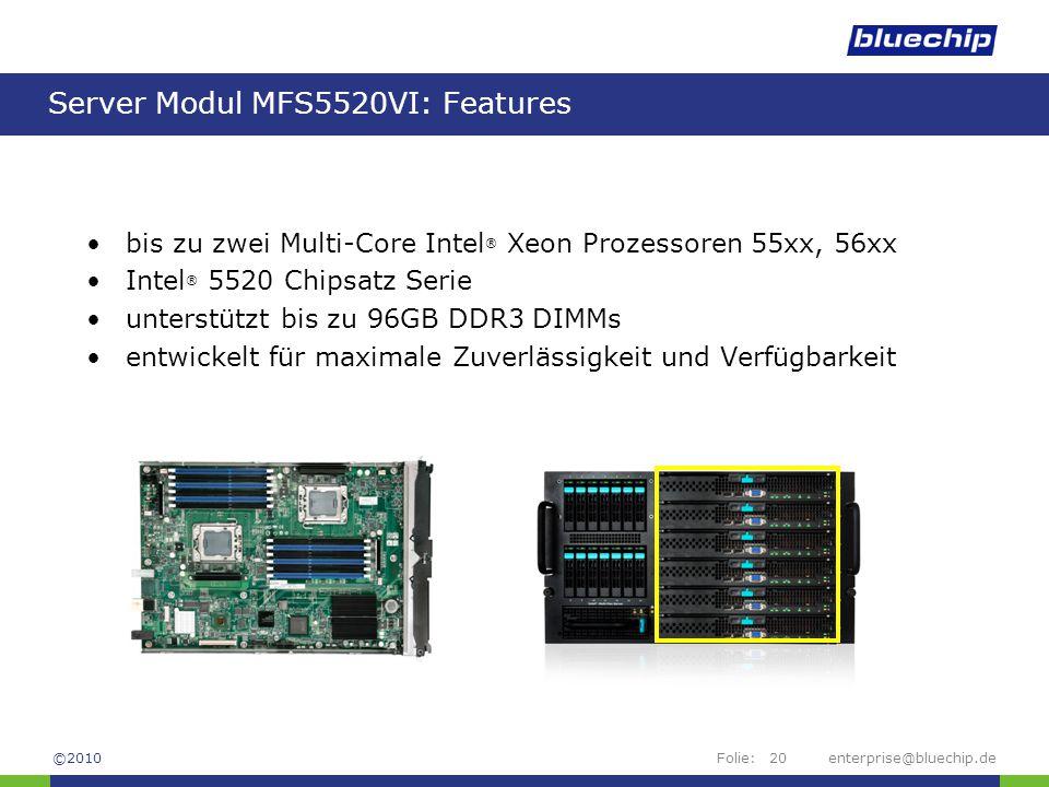 Server Modul MFS5520VI: Features