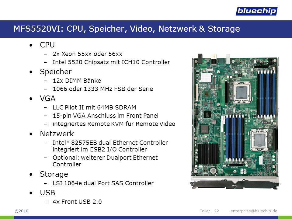 MFS5520VI: CPU, Speicher, Video, Netzwerk & Storage