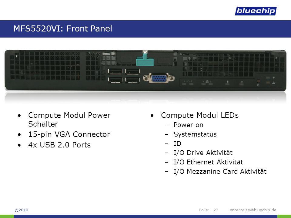 MFS5520VI: Front Panel Compute Modul Power Schalter