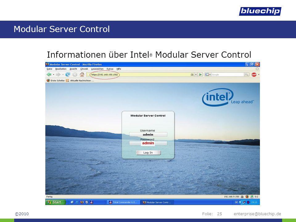 Modular Server Control