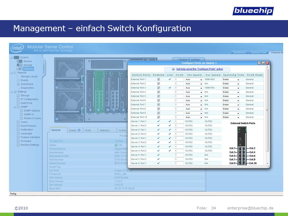 Management – einfach Switch Konfiguration