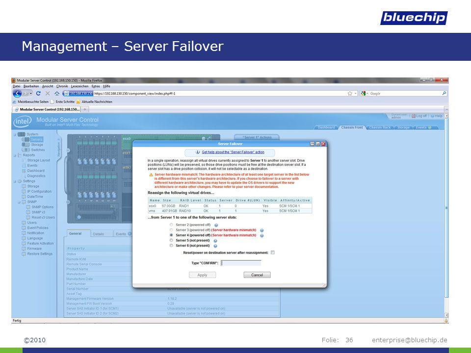 Management – Server Failover