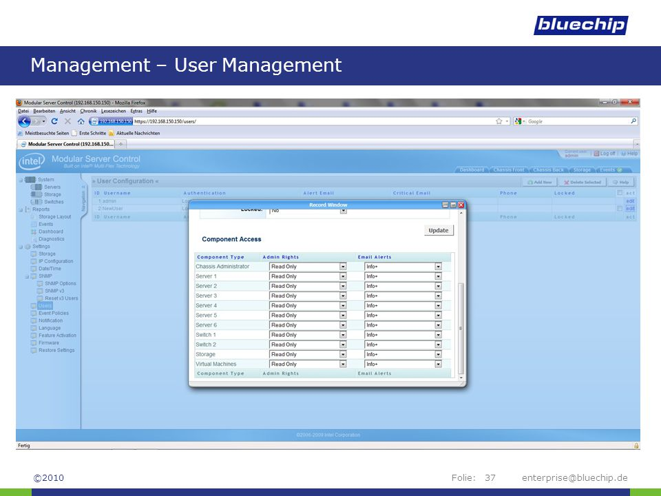 Management – User Management
