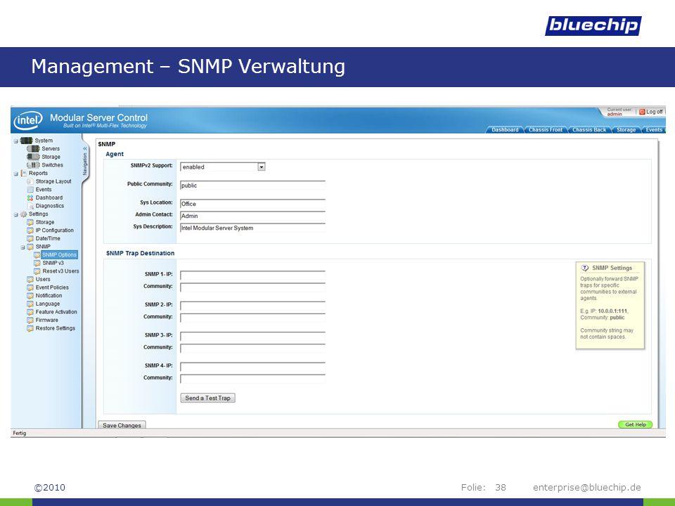Management – SNMP Verwaltung
