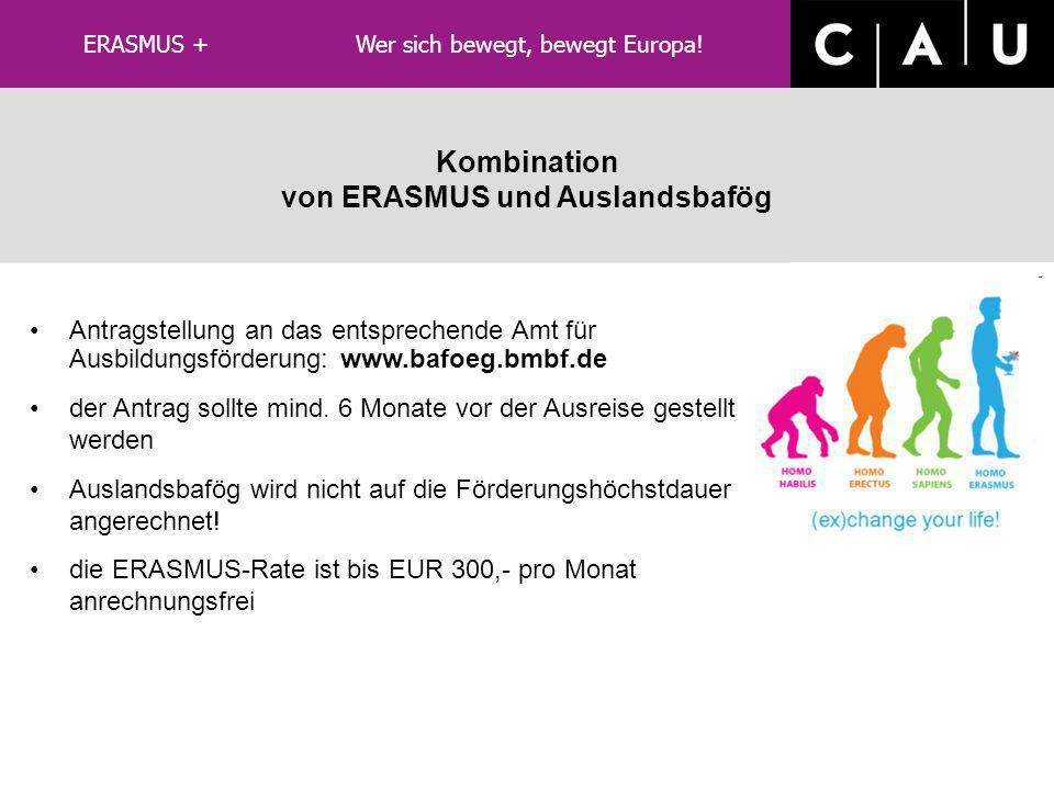 von ERASMUS und Auslandsbafög