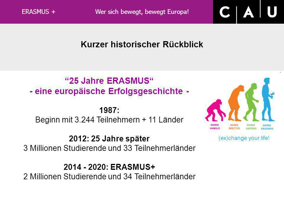 Kurzer historischer Rückblick - eine europäische Erfolgsgeschichte -