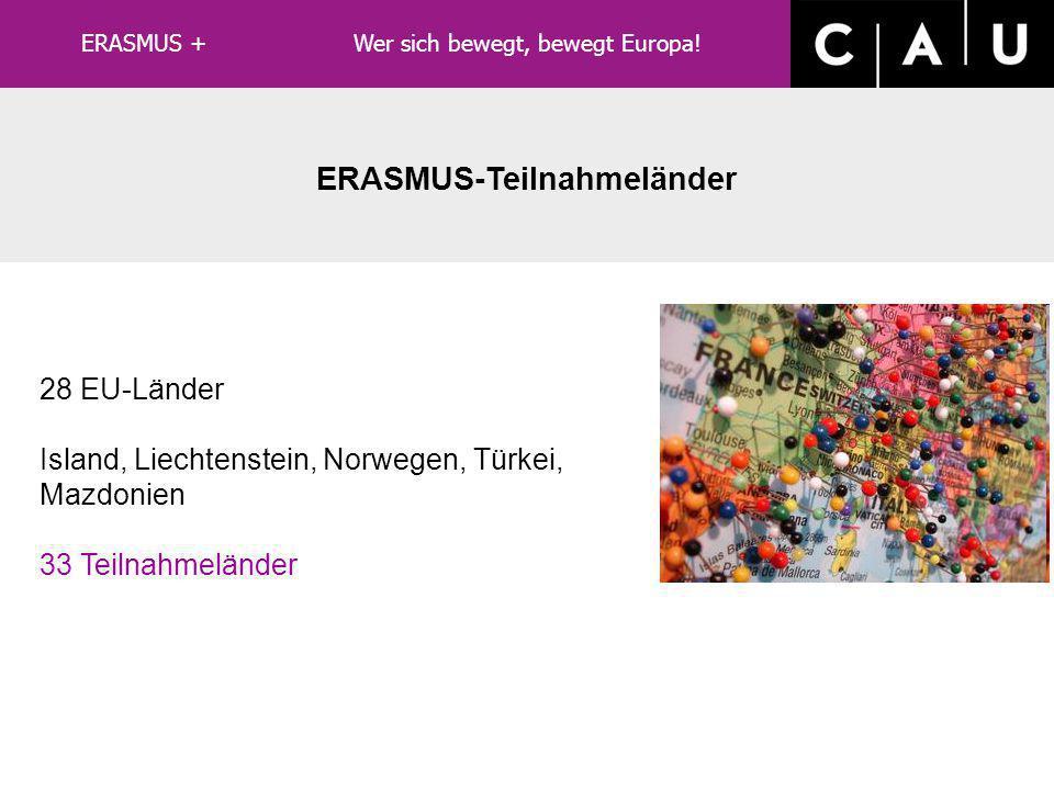 ERASMUS-Teilnahmeländer