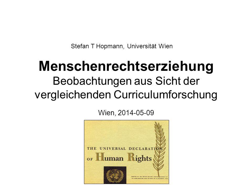 Stefan T Hopmann, Universität Wien