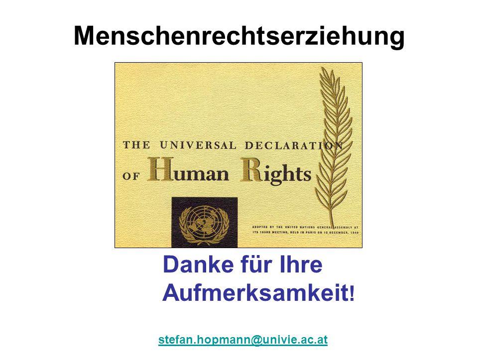 Menschenrechtserziehung