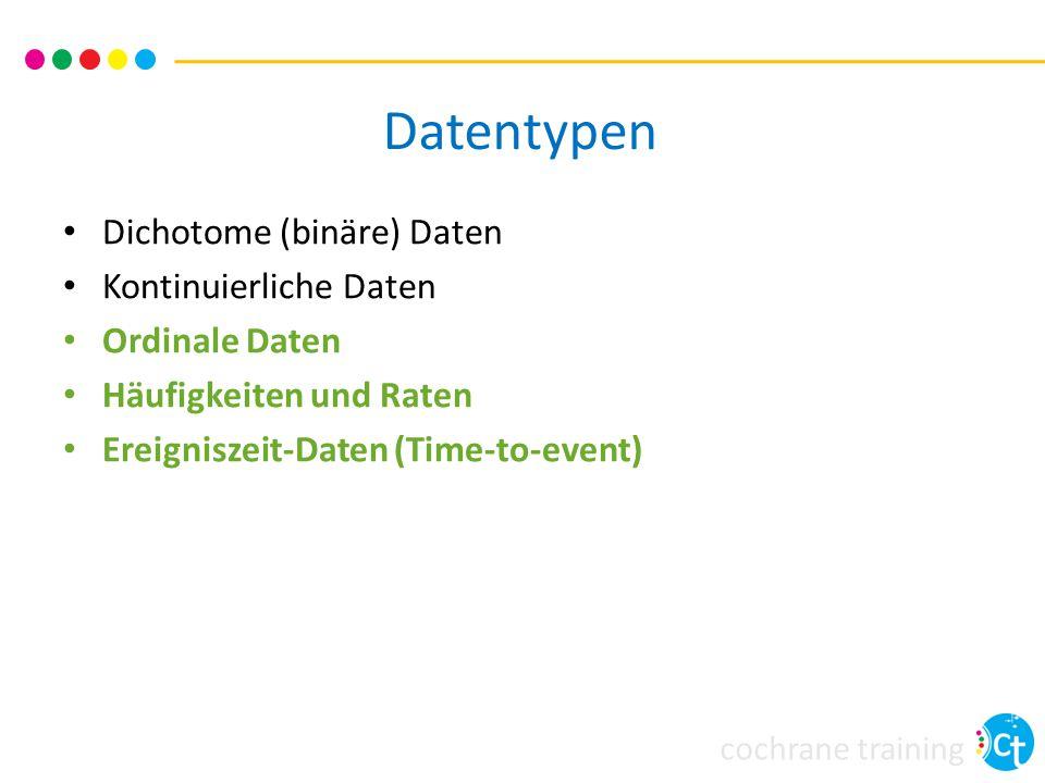 Datentypen Dichotome (binäre) Daten Kontinuierliche Daten