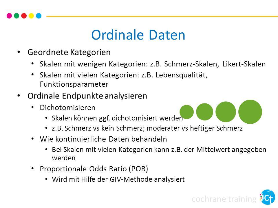 Ordinale Daten Geordnete Kategorien Ordinale Endpunkte analysieren