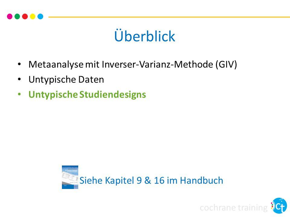 Überblick Metaanalyse mit Inverser-Varianz-Methode (GIV)