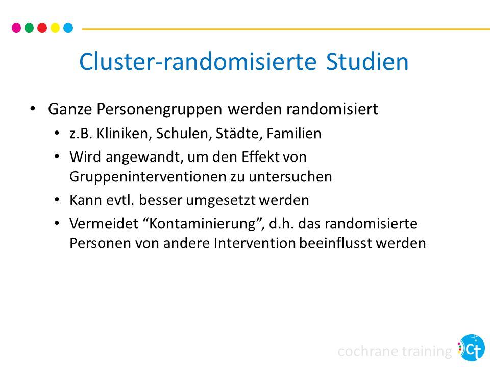 Cluster-randomisierte Studien