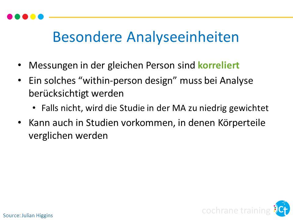 Besondere Analyseeinheiten