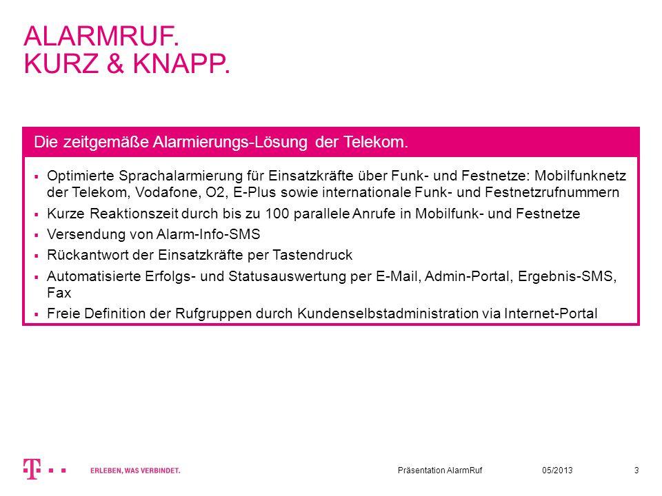 ALARMRUF. KURZ & KNAPP.13.08.2007. Autor / Thema der Präsentation. 3.