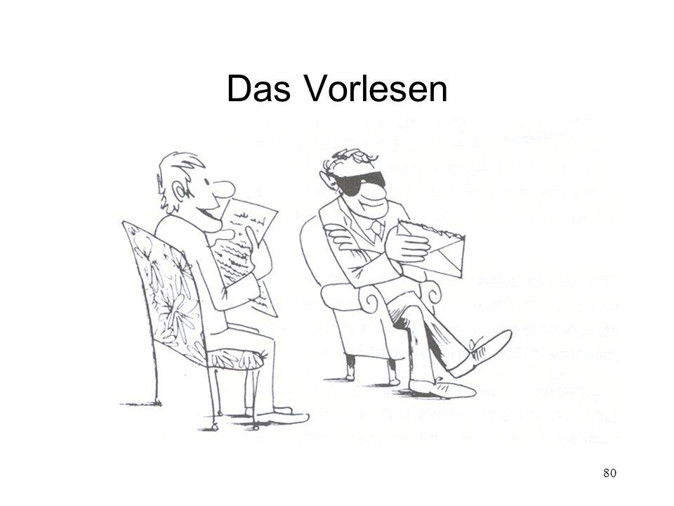 Das Vorlesen