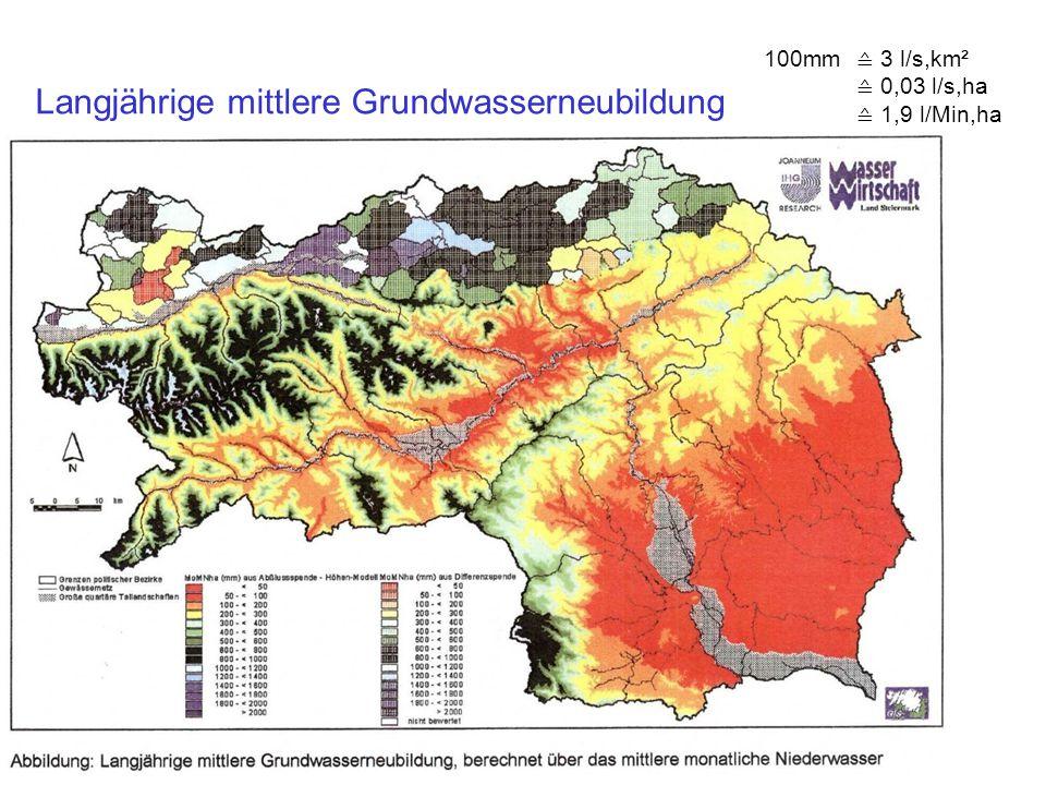 Langjährige mittlere Grundwasserneubildung