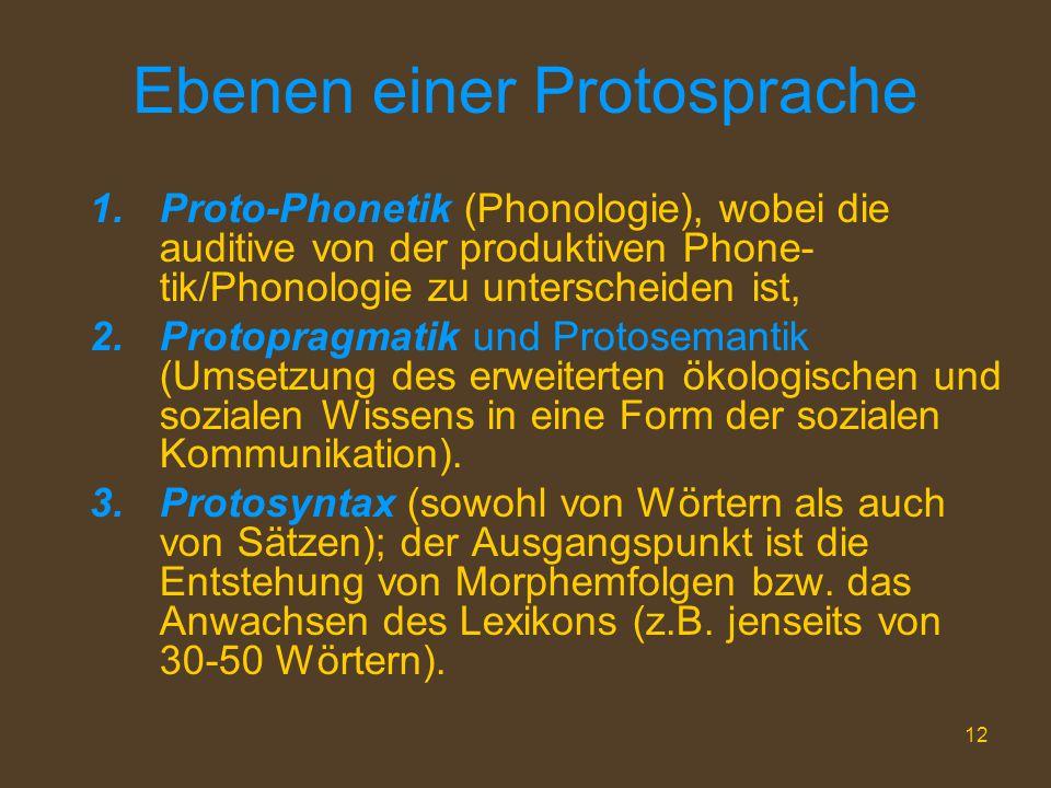 Ebenen einer Protosprache