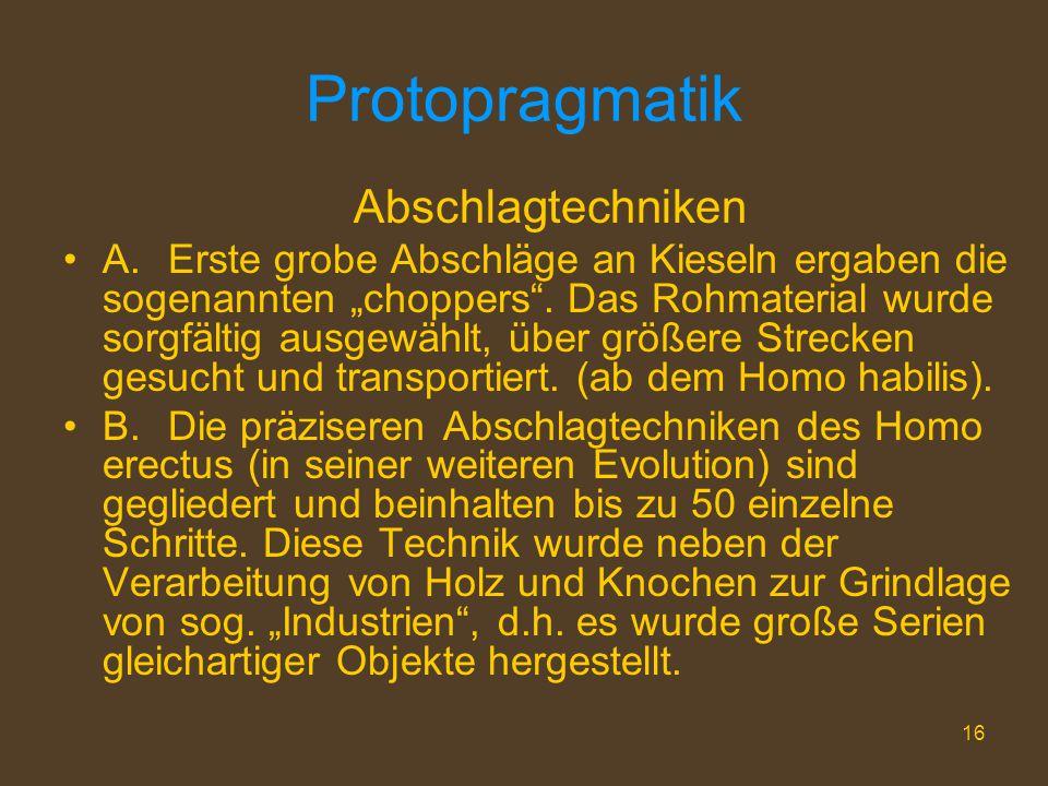 Protopragmatik Abschlagtechniken