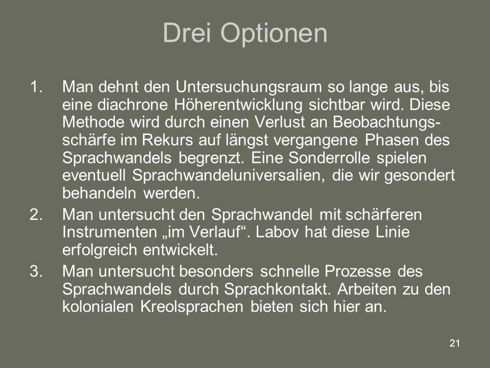 Drei Optionen