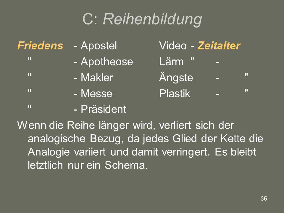 C: Reihenbildung Friedens - Apostel Video - Zeitalter