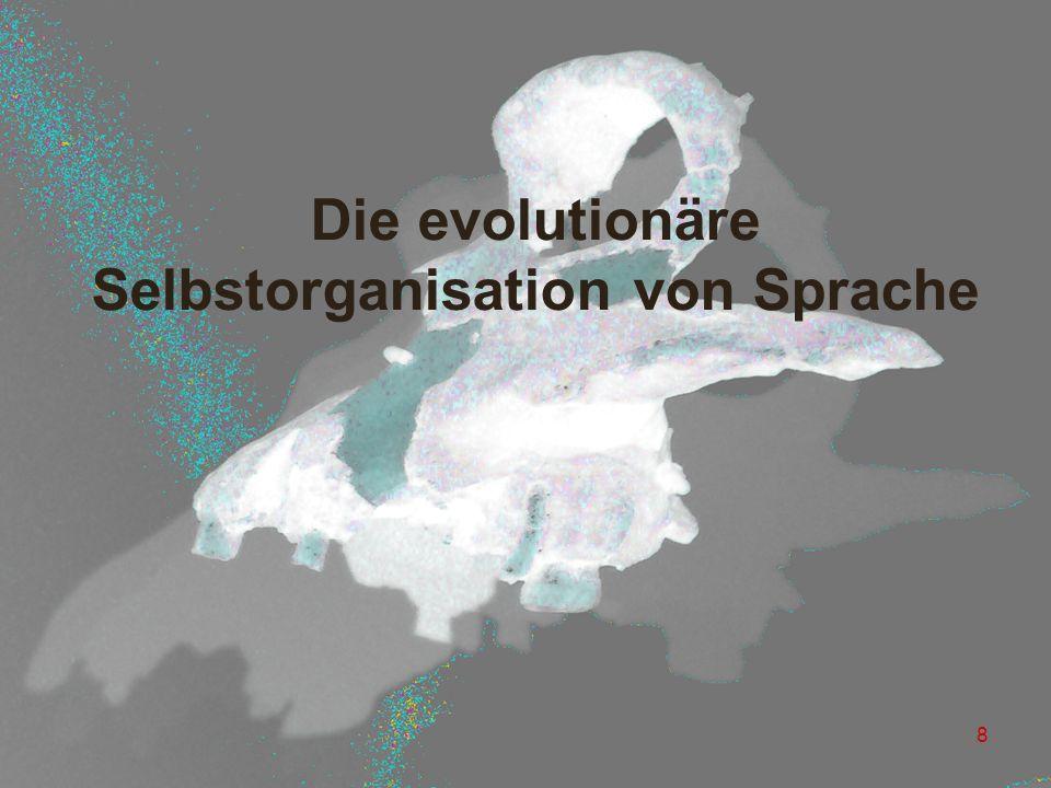 Die evolutionäre Selbstorganisation von Sprache