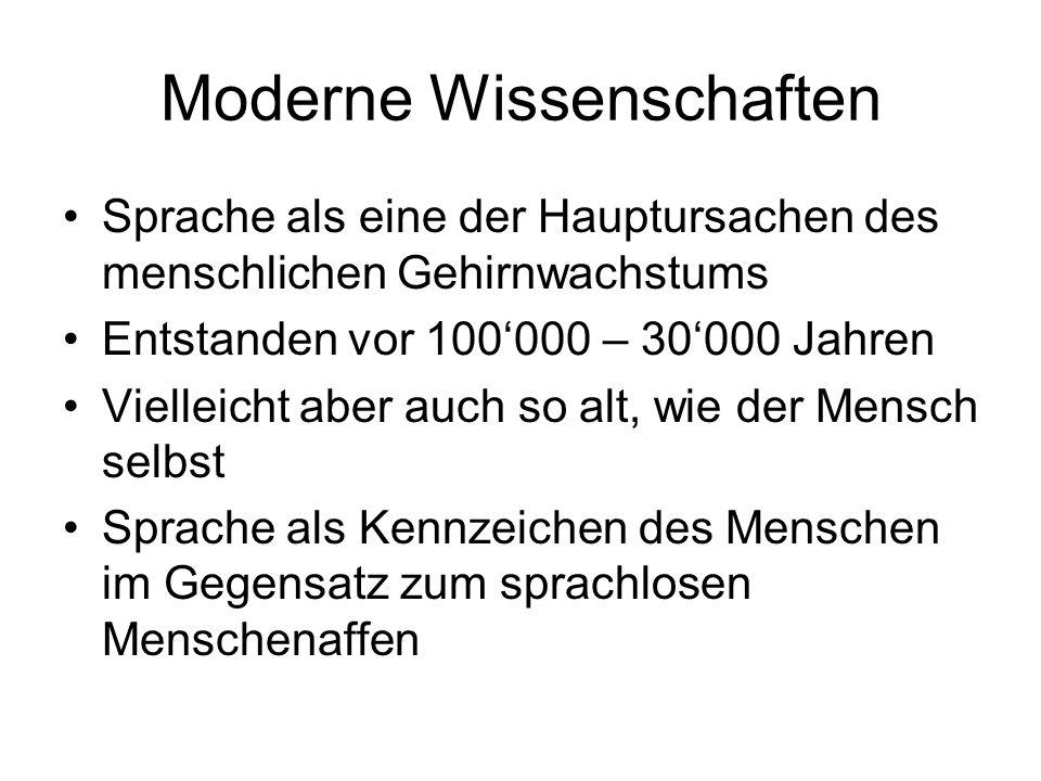 Moderne Wissenschaften