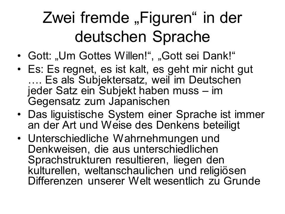 """Zwei fremde """"Figuren in der deutschen Sprache"""