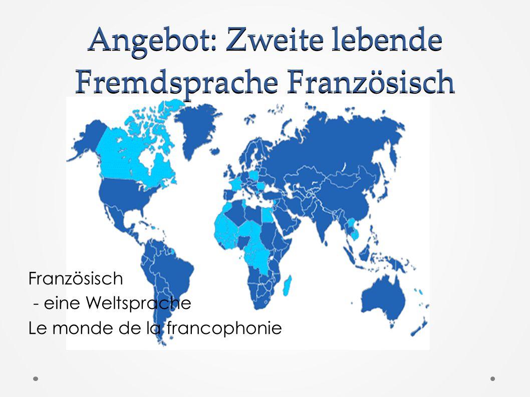 Angebot: Zweite lebende Fremdsprache Französisch