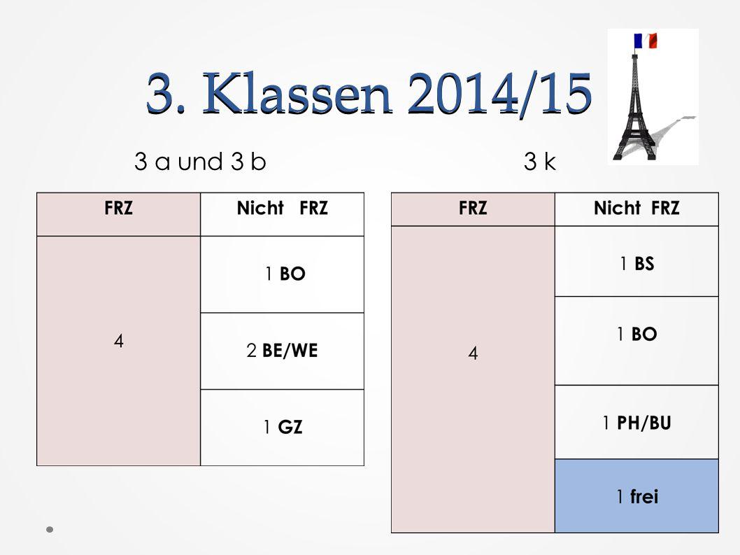 3. Klassen 2014/15 3 a und 3 b 3 k