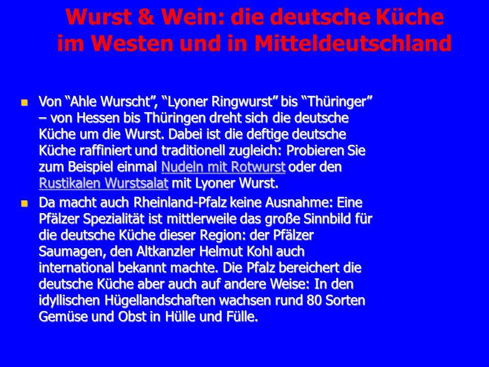 Raffinierte deutsche kuche