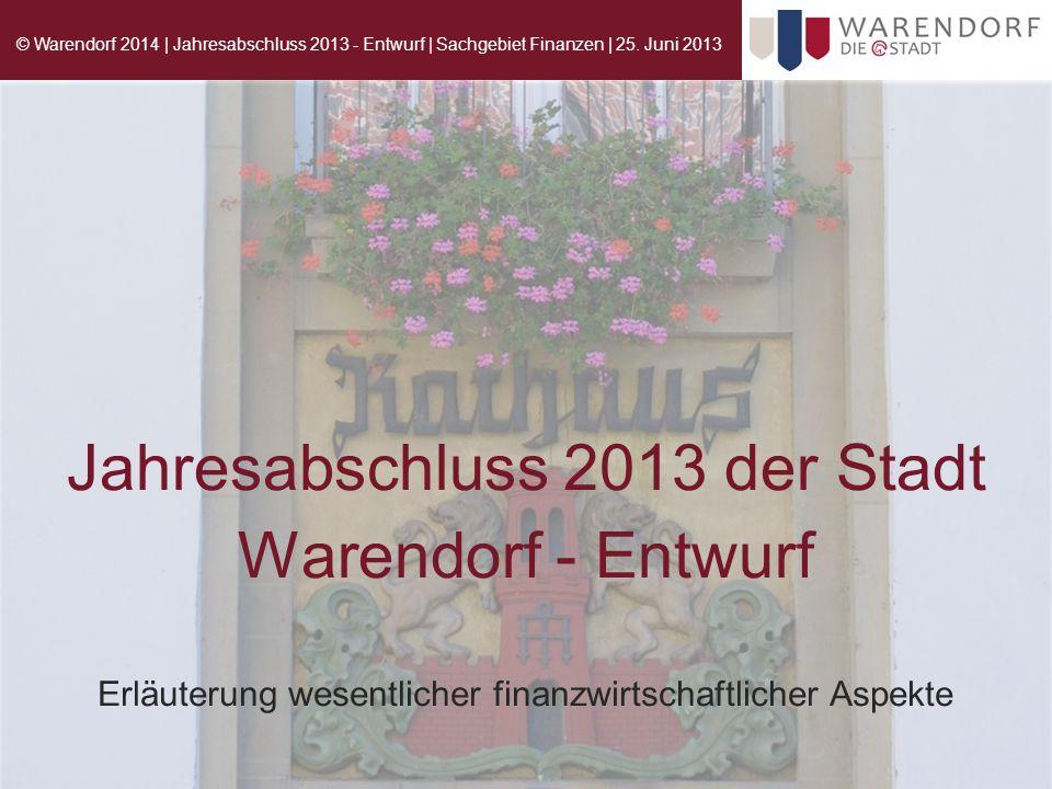 Jahresabschluss 2013 der Stadt Warendorf - Entwurf