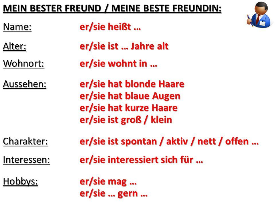 MEIN BESTER FREUND / MEINE BESTE FREUNDIN: