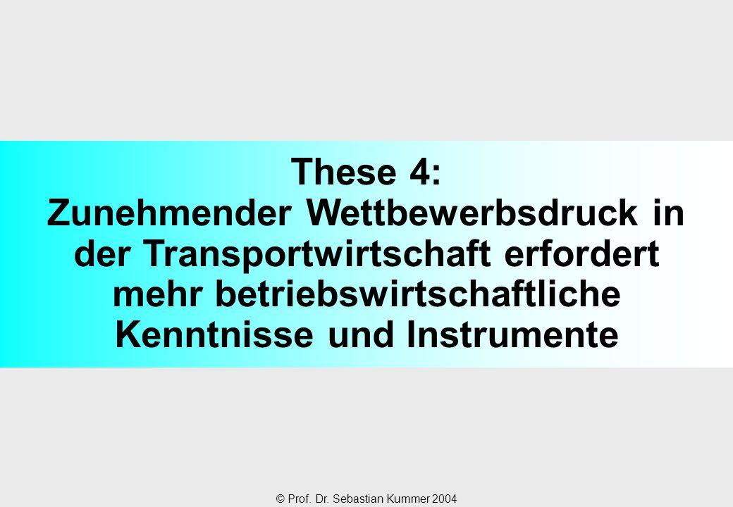 These 4: Zunehmender Wettbewerbsdruck in der Transportwirtschaft erfordert mehr betriebswirtschaftliche Kenntnisse und Instrumente