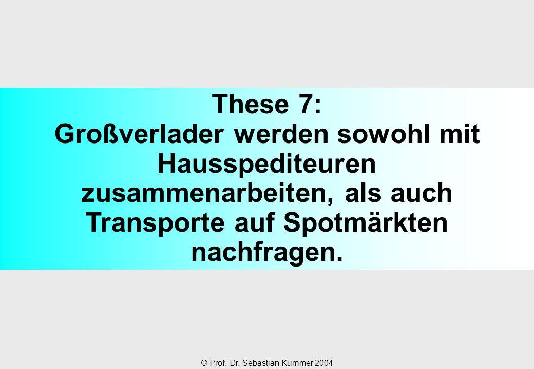 These 7: Großverlader werden sowohl mit Hausspediteuren zusammenarbeiten, als auch Transporte auf Spotmärkten nachfragen.
