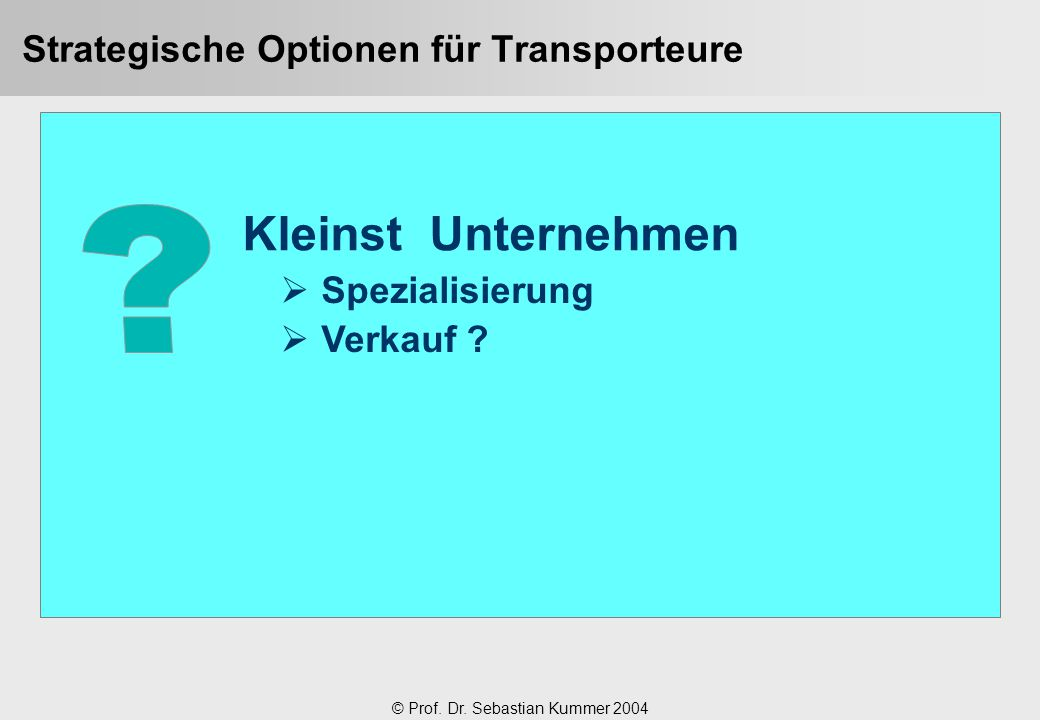 Strategische Optionen für Transporteure