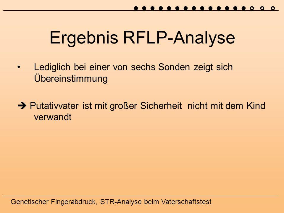 Ergebnis RFLP-Analyse