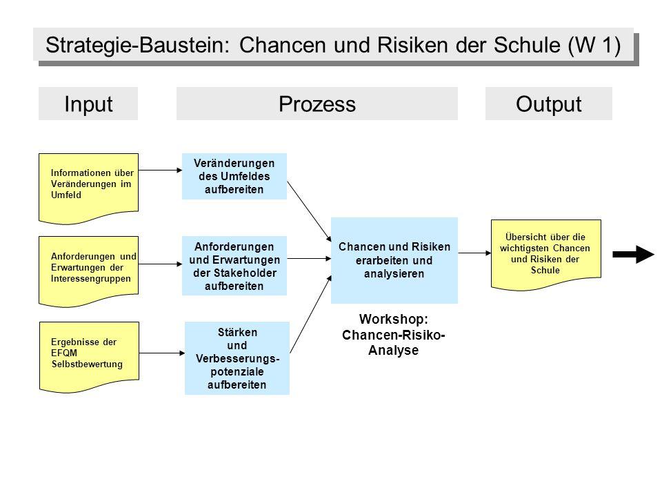 Strategie-Baustein: Chancen und Risiken der Schule (W 1)