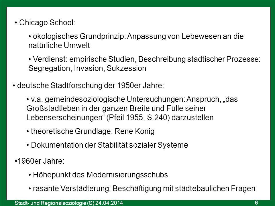 deutsche Stadtforschung der 1950er Jahre: