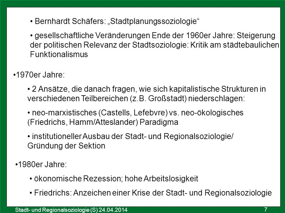 "Bernhardt Schäfers: ""Stadtplanungssoziologie"