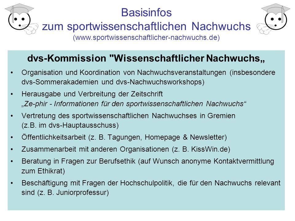 """dvs-Kommission Wissenschaftlicher Nachwuchs"""""""