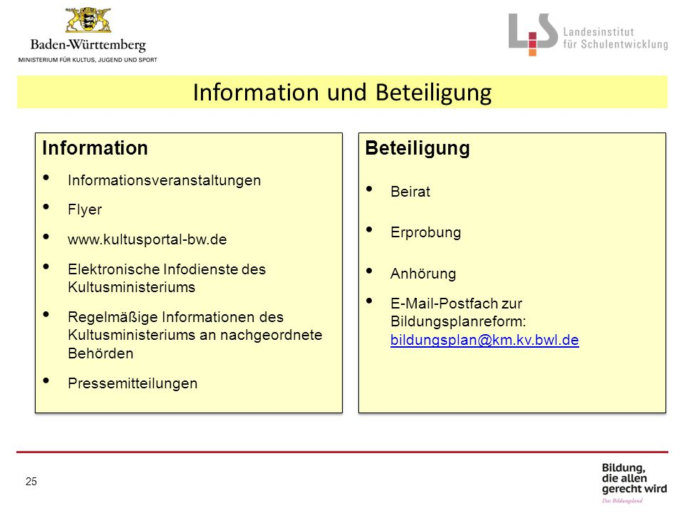 Information und Beteiligung