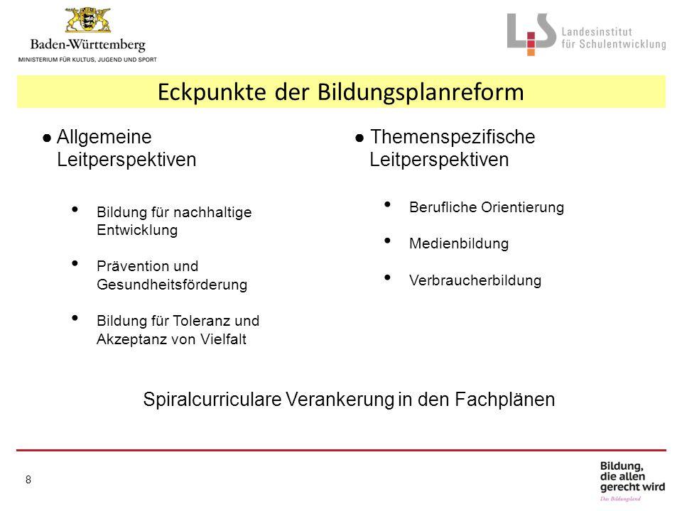 Eckpunkte der Bildungsplanreform