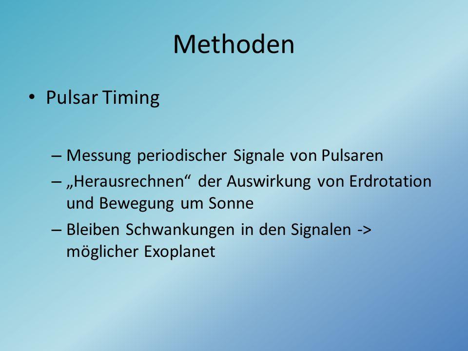 Methoden Pulsar Timing Messung periodischer Signale von Pulsaren